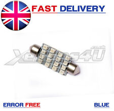 1x 42mm BLU 16 SMD LED Festoon interni LAMPADINA VW TOURAN TOUAREG GOLF