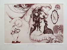 """CHARLES BRAGG """"VANITY"""" Hand Signed Limited Edition Etching RARE!"""