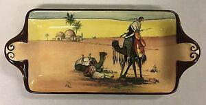 Rare Antique/Vintage Royal Doulton Series Ware Desert Scenes Sandwich Tray