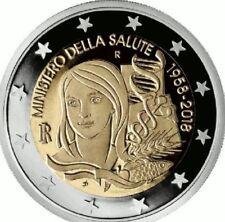 25f817e233 2 EURO COMMEMORATIVA ITALIA 2018 - MINISTERO DELLA SALUTE - ROTOLINO - FDC  UNC