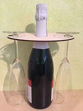 Gläserhalter Aufsatz für Sekt und Weinflaschen für 2 Gläser. Aus Holz.