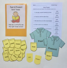 Teacher Made Literacy Center Eucational Learning Resource Game Verb Tense