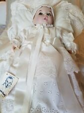 Vintage 1981 Bisque Gerber Baby Doll In Christening Gown /With Tag