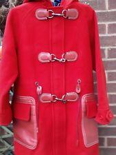 COACH NUEVO YORK Mujer Rojo Lana Duffle/Parka Abrigo XS