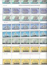BERMUDA 1976 SHIPS SET COMPLETE IN GUTTER BLOCKS OF 10 Sc 337 347 W/ EXTRA BLOCK