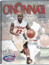 2001-02 Cincinnati Bearcats Men's Basketball Media Guide Yearbook