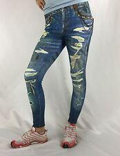 Bejeweled Leggings Jeggings Susan Fixel Jeans Bronze Chain M