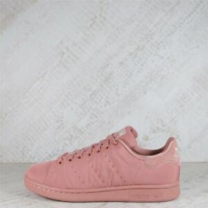 Womens adidas Originals Stan Smith Satin Raw Pink Trainers (PF1) RRP £74.99