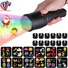 12 Patterns LED Christmas Lights Projector Handheld Kids Flashlight Light Show