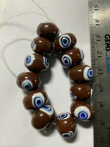 Vintage Mystic Evil Eye Beads **** UPICK*** Mystic Nazuri Evil Eye Bead Pendants