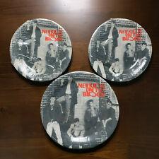 Sealed Vintage 1990 NEW KIDS ON THE BLOCK 1 Large 2 Small Paper Plates Set VTG