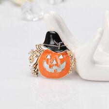 Corsage Hats Scarf Lapel Pins D 3pcs Halloween Brooch Fashion Drop Oil Pumpkin