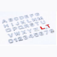 3D DIY Metallic Alphabet Number Sticker Car Emblem Letter Badge Decal Auto Sign