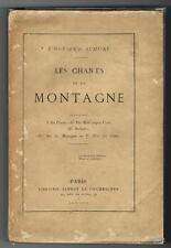 Schuré LES CHANTS DE LA MONTAGNE 1876 édition originale rare