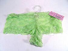 Jezebel Light Green Lacey Sexy Intimates Panties Boy Shorts Women's Size L NWT
