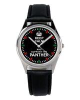 Keep Panther Geschenk Fan Artikel Zubehör Fanartikel Uhr B-1845