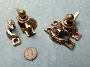 Victorian Sash Locks Bronze Restored 2