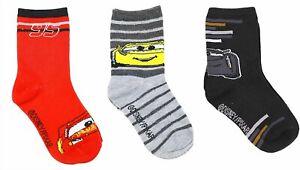 Disney Boy's Cars 3-Pack Crew Socks