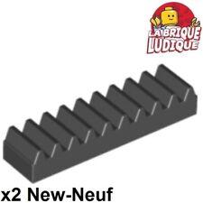 Lego technic - 2x engrenage crémaillère cranté Rack 1x4 noir/black 3743 NEUF