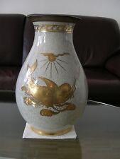 Royal Copenhagen Vase Kraquele Crackle Craquelure Nautica Fisch Fish Schiff Ship