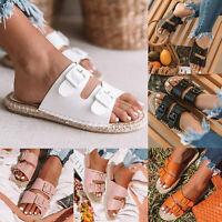 Summer Women Comfy Platform Sandal Slip On Slippers Flip Flops Mules Shoes Sizes