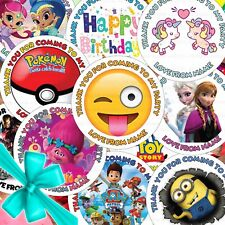 buy personalised party bag stickers ebay