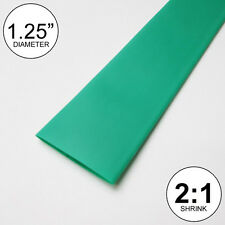 "1.25"" ID Green Heat Shrink Tube 2:1 ratio 1-1/4"" wrap (10 feet) inch/ft/to 30mm"