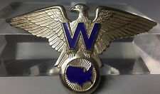 Vintage WACKENHUT SECURITY Enamel Flight Pilot Hat Badge Wings