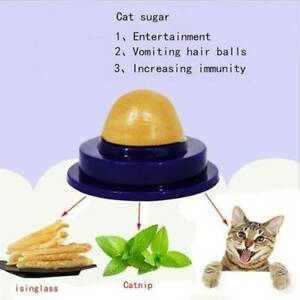 CAT PET LICK BALL SNACK FISH GELATIN TREATS LICKABLE CANDY NUTRITION ENERGY TOY