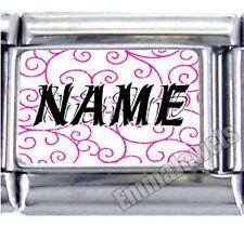 Unique Pink Custom Name 9mm Photo Text Italian Charm