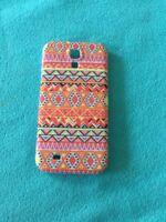Hardcase für Samsung Galaxy S4 Zick Zack Orange 🍊 Neu & OVP
