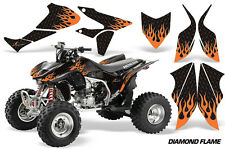 Honda TRX 450R AMR Racing Graphic Kit Wrap Quad Decal ATV 04-14 DMND FLAME ORNG
