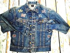 1960`S LEE 101-J  JEWELLED STUDDED JACKET (THE GREAT CHINA WALL ) USA 40 CHEST