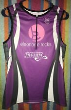 K Swiss Sleeveless Cycling Jersey Womens Sz L PurplePink eleonore rocks Infinit