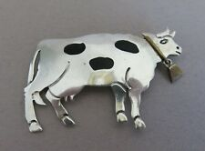Sterling Silver Cow Brooch Mexico Taxco TV-94 20.5g (1399)
