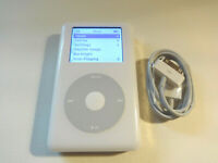 APPLE  iPOD  CLASSIC  4TH GEN.  WHITE  40GB...NEW BATTERY...