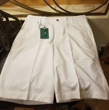 Sz 36 - Southern Tide Club Flat Front White Performance Golf Shorts  - NWT