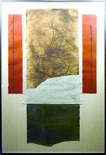 Scott Sandell Slightly Sunken Memory Signed Original mixed media Abstract Art MA