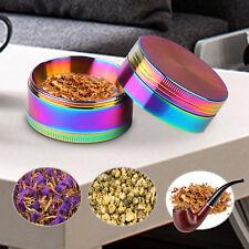 4 Piece Magnetic Smoke Smoke Crush Tobacco Herb Grinder Spice Aluminum +Scraper