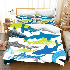 Linen Shark White Single/Double/Queen/King Bed Doona/Duvet/Quilt Cover Set