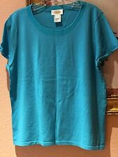 TALBOTS EXCLUSIVE CLASSIC SHORT SLEEVES NEW SWEATER ~TOP SIZE XL