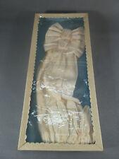 Ancien noeud brassard + gants de communion en satin enfant religion chretienne