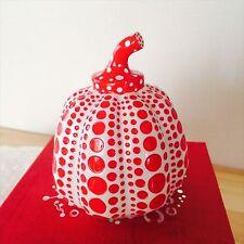New Yayoi Kusama Paperweight Object Pumpkin LAMMFROMM JAPAN Sculpture Red F/S