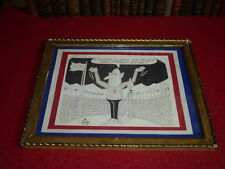 [Coll.J.DOMARD SPORT] OLYMPIC GAMES GRENOBLE 1968 DESSIN ORIGINAL DERO DE GAULLE