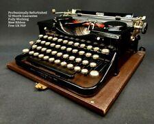 More details for royal model p typewriter working refurbished vintage 1930s portable gloss black