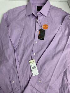 NWT Ben Sherman Tailored Lavender Dress Shirt Size 161/2 34-35  $98.50