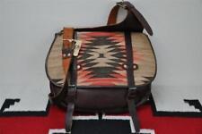 Ralph Lauren RRL Leather & Indian Wool Blanket Messenger Mail Bag