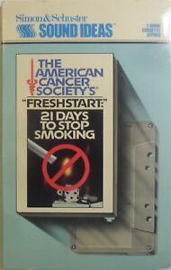 FRESHSTART *21 DAYS TO STOP SMOKING* AUDIO TAPE 1986 75m run time V.G