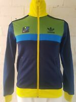 Men's Adidas Originals Track Top Size XS Jacket Blue Green Yellow