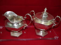 Sugar & Creamer Set in Sterling Silver Cr.1993  #4520 Made in Japan